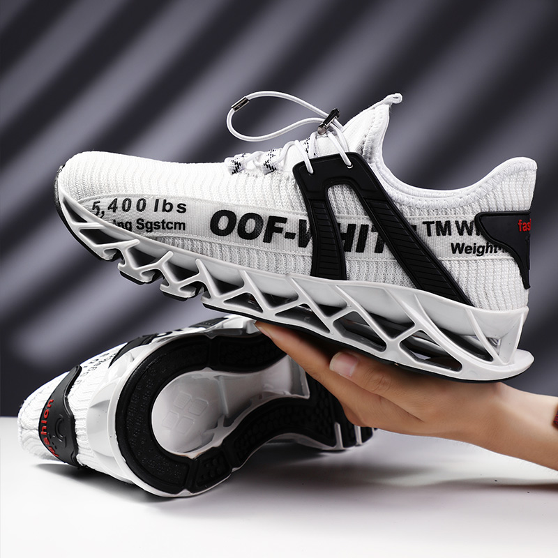 2020 Brand Black Red Sport Shoes For Men Size 39-44 Mens Lace Up Anti Slip Athletic Sneakers Outdoor Breathable Running Shoes