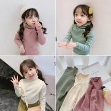 Kids Boys Girls Sweaters Turtleneck Long Sleeve