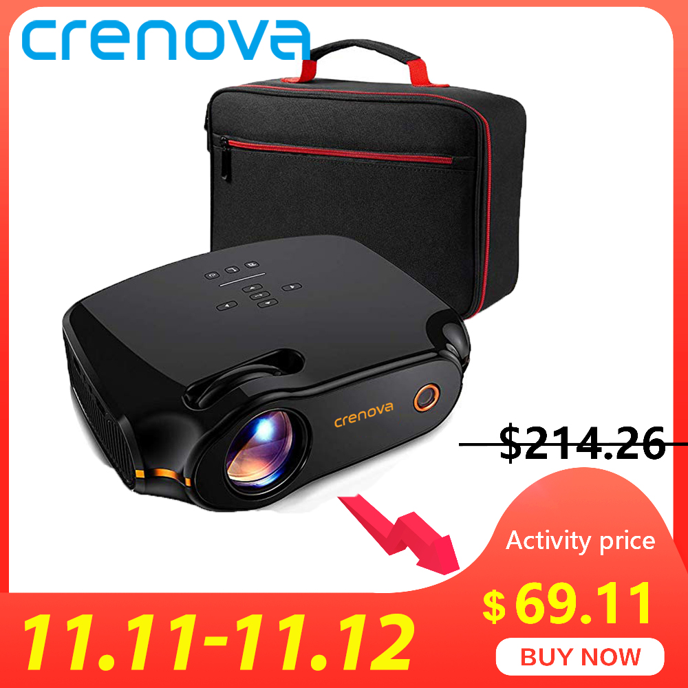 CRENOVA LED Projector XPE498, Android 7.1.2 OS, 3200 Lumens Android Projector With WIFI Bluetooth Home Cinema Movie Beamer-in LCD Projectors from Consumer Electronics