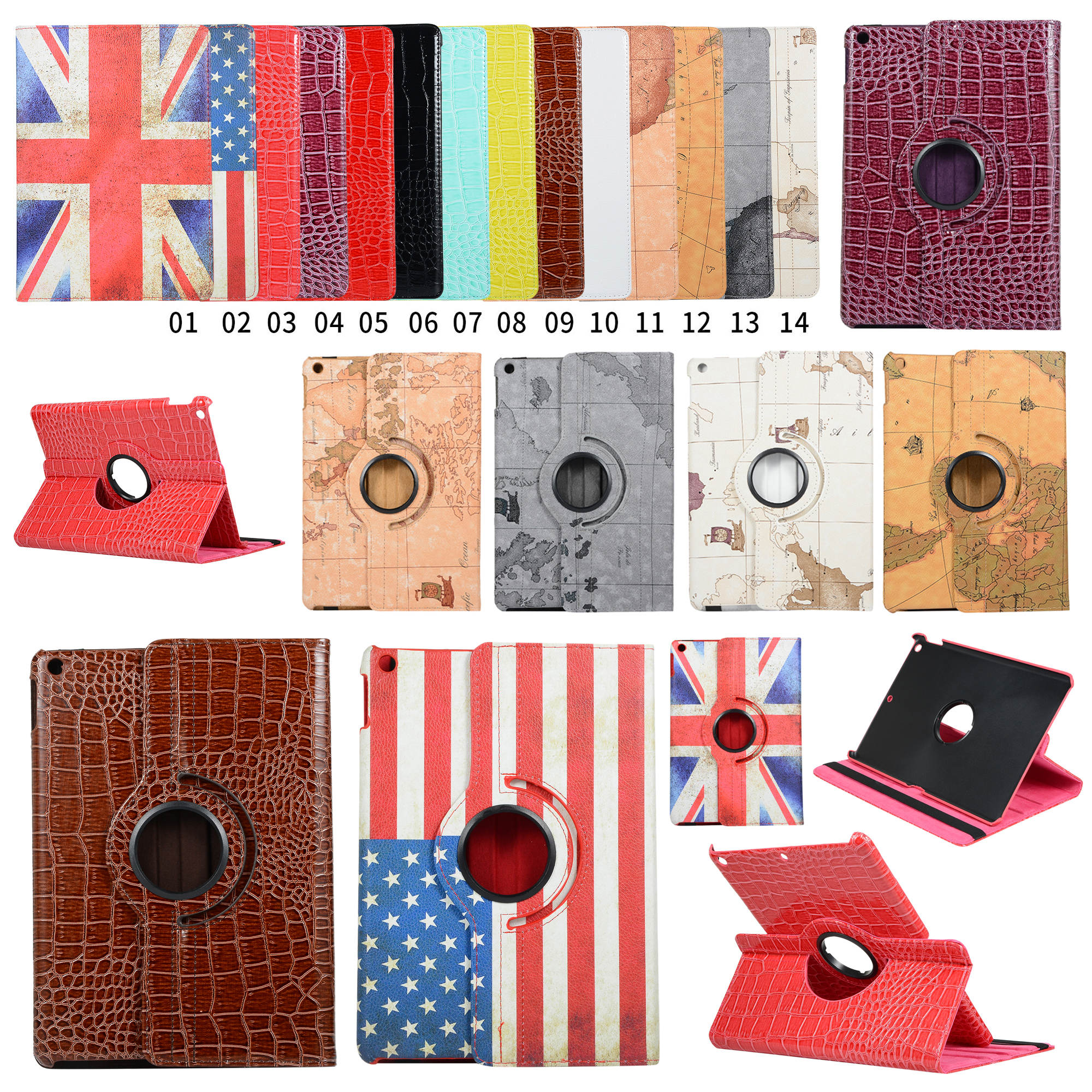 360 Degree Rotating Case For Apple iPad 10 2 2019 7th Generation A2197 A2200 A2198 A2232