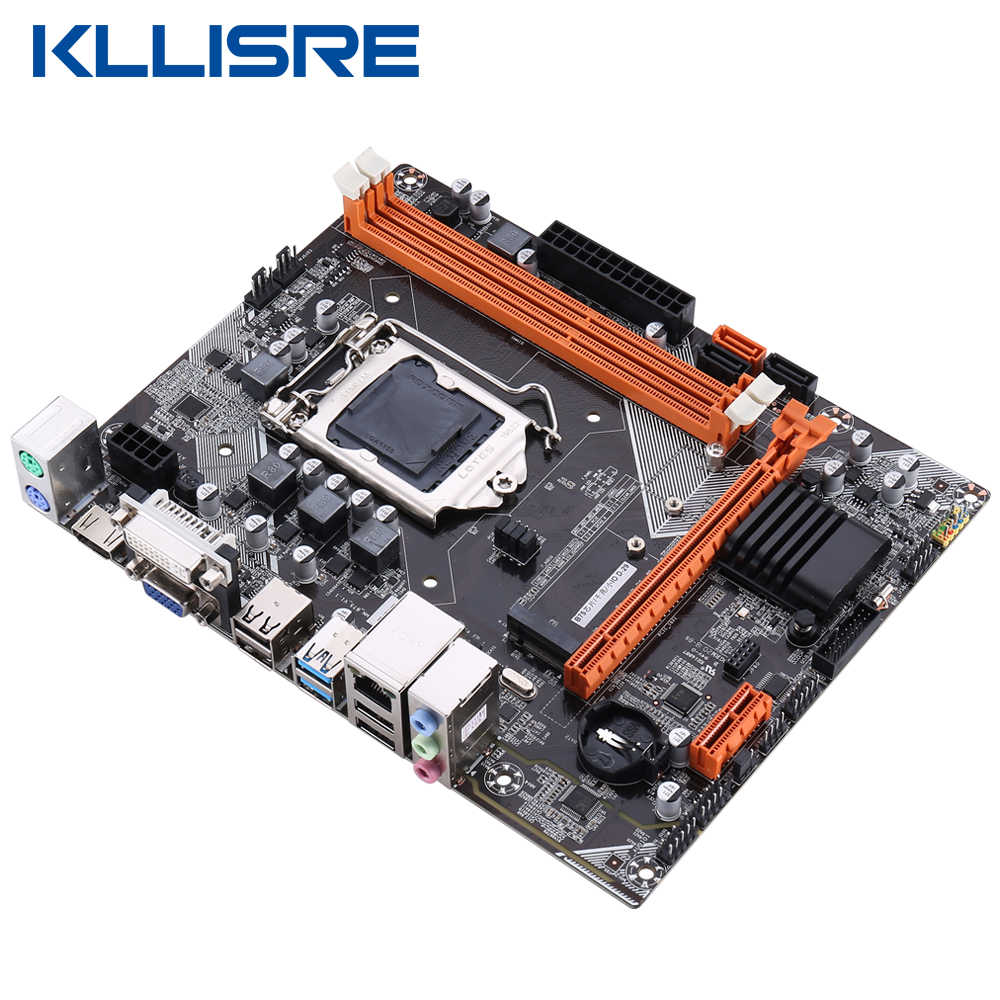 Kllisre B75 masaüstü anakart M.2 LGA1155 için i3 i5 i7 CPU desteği ddr3 bellek