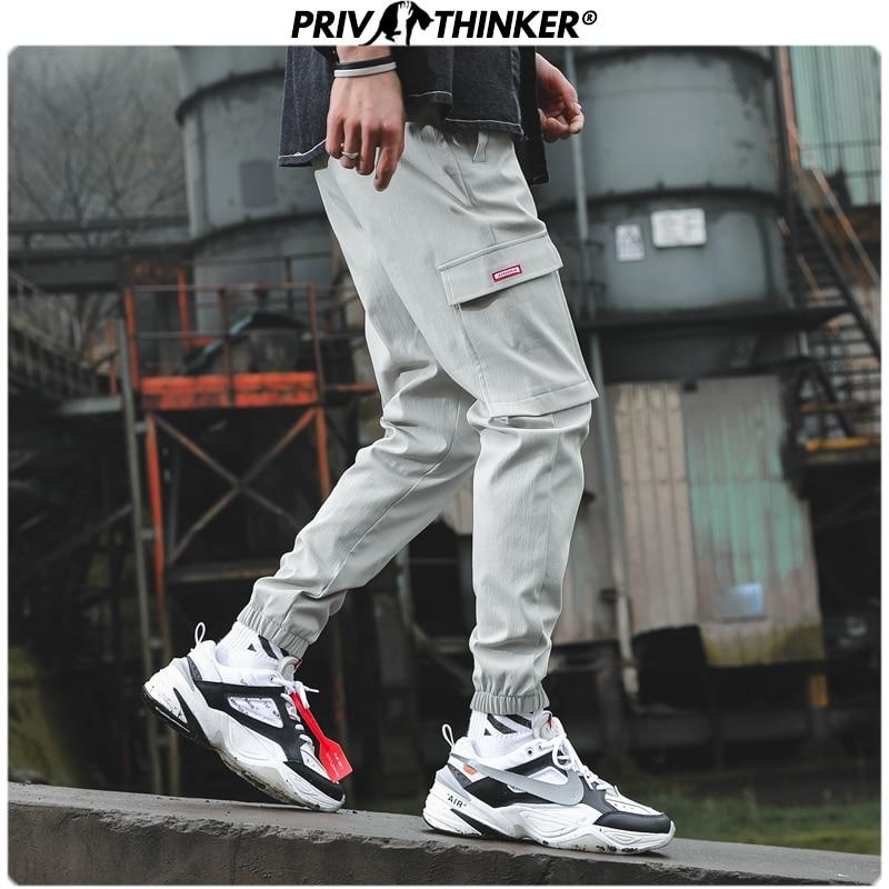 Privathinker Men Hip Hop Pockets 2020 Ankle-length Pants Mens Casual Safri Style Joggers Male Korean Summer Harem Pants Oversize