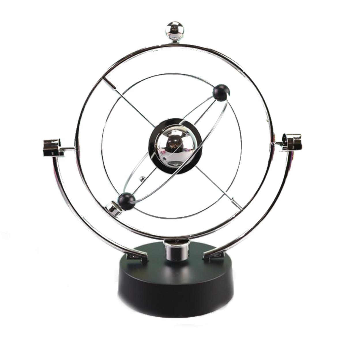 การหมุน Perpetual Motion Swing Celestial Globe ลูกตุ้ม Newton รุ่น Kinetic Orbital Revolving Gadget Home Decor หัตถกรรมเครื่องประดับ
