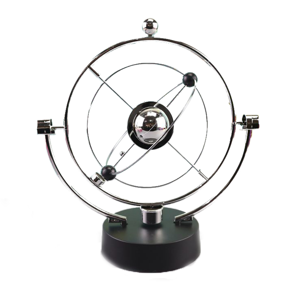 Rotation Perpetual Motion Swing Celestial Globe Newton Pendulum Model Kinetic Orbital Revolving Gadget Home Decor Craft Ornament