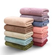 Towel-Set Hand-Blanket Bath Face Microfiber Gifts Velvet Quick-Dry Luxurious Coral 2pcs