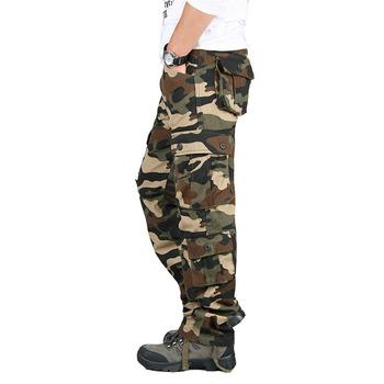 Męskie spodnie do wędrówek pieszych Outdoor wojskowe spodnie bawełniane wędkarskie spodnie trekkingowe polowanie wspinaczka górska armia taktyczne spodnie w stylu Cargo tanie i dobre opinie Zipper fly COTTON spandex Pełnej długości Camping i piesze wycieczki Pasuje prawda na wymiar weź swój normalny rozmiar