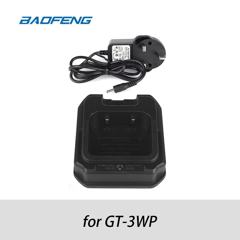 Original Baofeng Desktop Charger Adapter For Pofung GT-3WP Two Way Radio Ham Walkie Talkie