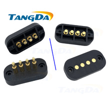 Tangda pitch:4.5mm pogopin 4pin 4p connector needle gold plated pin 4.5 mm connectors pogo pin female + male antenna A