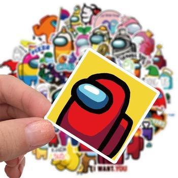 Hot 50Pcs/set Anime Stickers Among Us Stickers trust no one Graffiti Stickers Luggage Guitar Skateboard Among Us Game Sticker 4