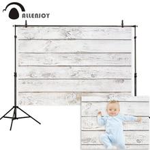 Allenjoy fotoğraf backdrop saf beyaz vintage ahşap pano zemin duvar arka plan fotoğraf stüdyosu photophone photocall ateş dekor