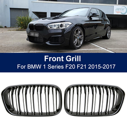 Car Front Bumper Grilles Kidney Racing Grill For BMW 1 Series F20 F21 LCI 120i 2015 2016 2017 Double Slat Replacement Grille