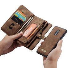 ארנק Wristlet טלפון מקרה עבור oneplus 7 פרו coque אופנה יוקרה עור Fundas Etui מגן כיסוי אביזרי מעטפת כרטיס תיק