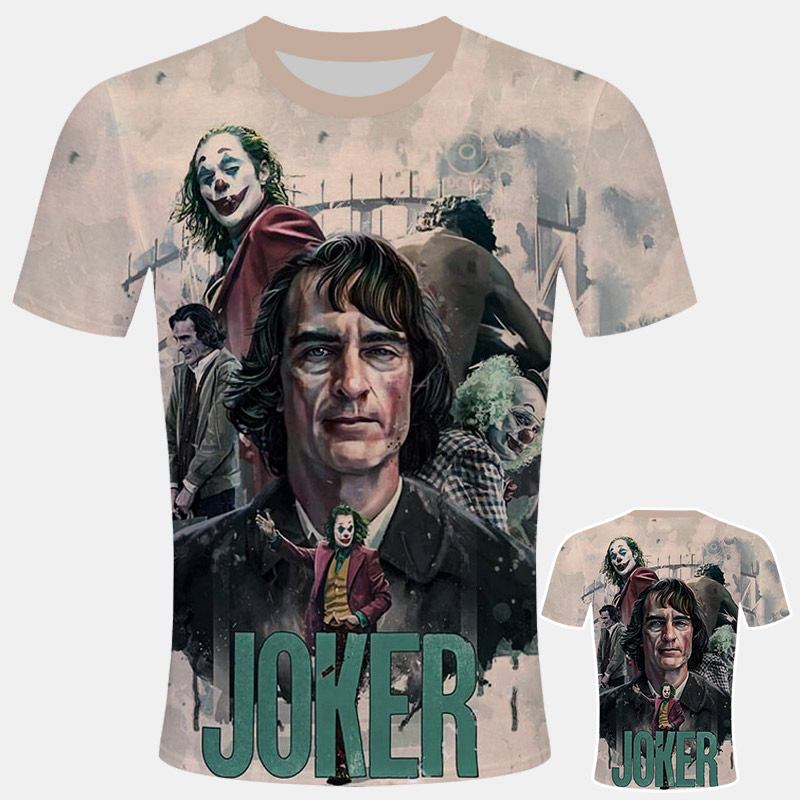 Joker 2019 Joaquin Phoenix Funny Clown T-shirt Summer New White Casual Homme TShirt Unisex Streetwear T Shirt Joker Costume