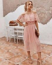 Платье женское с вырезом лодочкой модное пикантное Элегантное