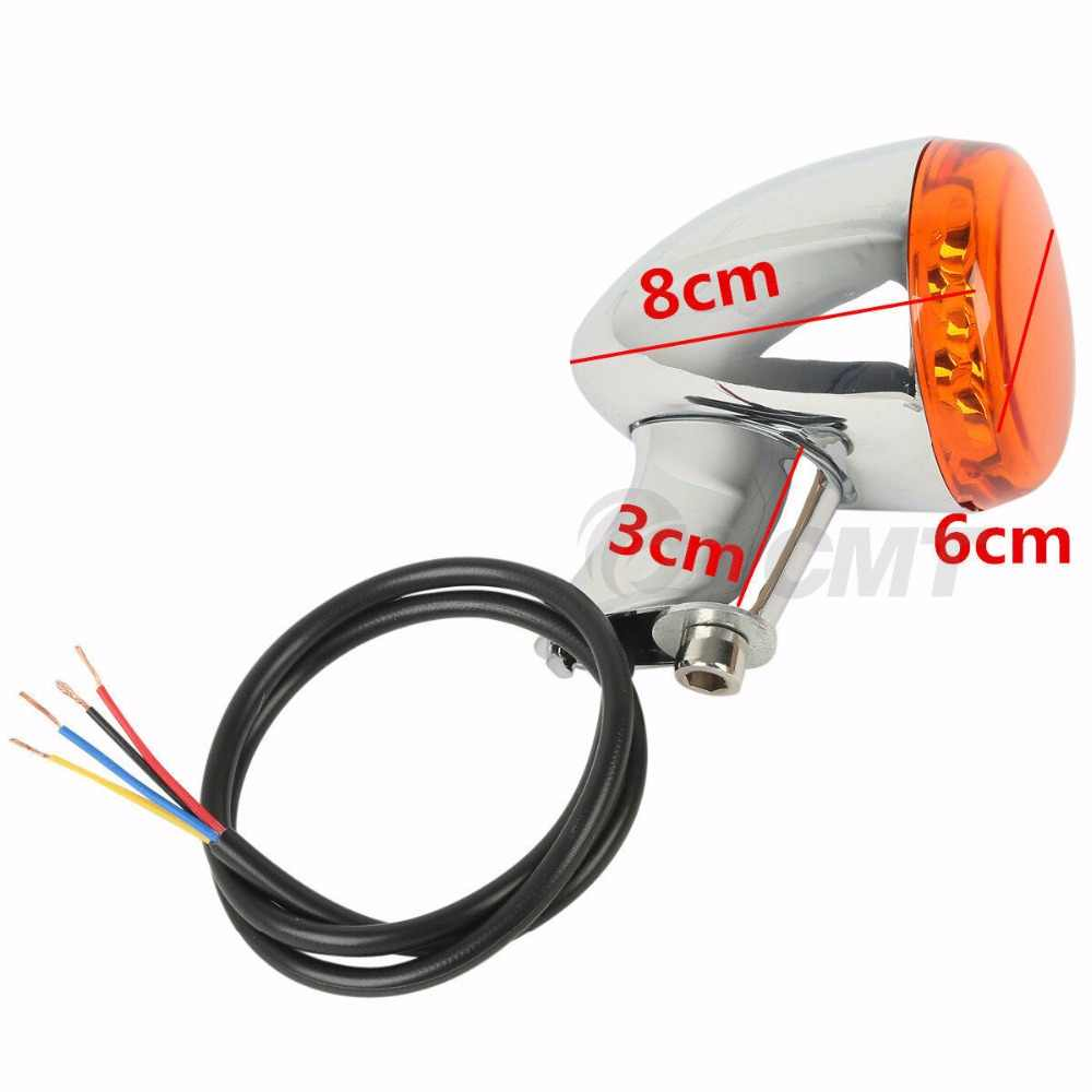 Tył motocykla kierunkowskaz koloru bursztynowego sygnały światła uchwyt do harleya Sportster XL 883 1200 1992-2019 15