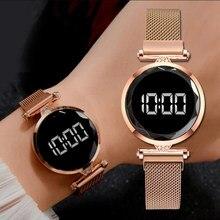 Orologi a magnete digitale di lusso per donna orologio al quarzo in acciaio inossidabile con abito in acciaio inossidabile orologio femminile Relogio Feminino drop shipping