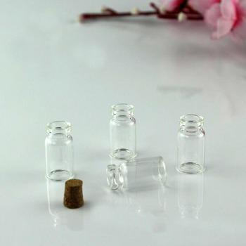 50 sztuk 13*24mm 1ml małe szklane słoiki słój na przetwory wiadomość fiolki tanie korek butelki DIY małe szklane butelki Mini pojemniki słoiki tanie i dobre opinie NoEnName_Null Zwierząt 13x24x6mm 1ml Europa Kolorowe glazury