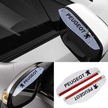 Rain-Blade Eyebrow Peugeot 2008 Car-Rearview-Mirror 2pcs for 206/308/307/.. PVC Flexible