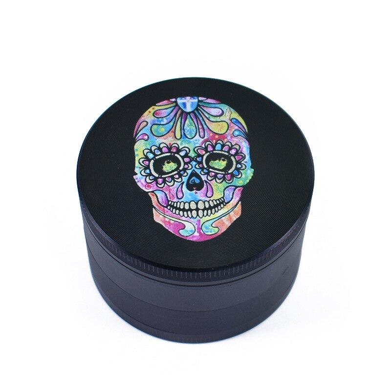 Broyeur à 4 couches, haut de gamme, 63MM, à motif de crâne, herbe, tabac, fumée, herbe, accessoires de tuyau de Cigarette