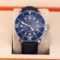 45mm relógio masculino do vintage esporte miyota 8215 mecânico luminoso automático auto vento azul preto a1 Relógios mecânicos     -