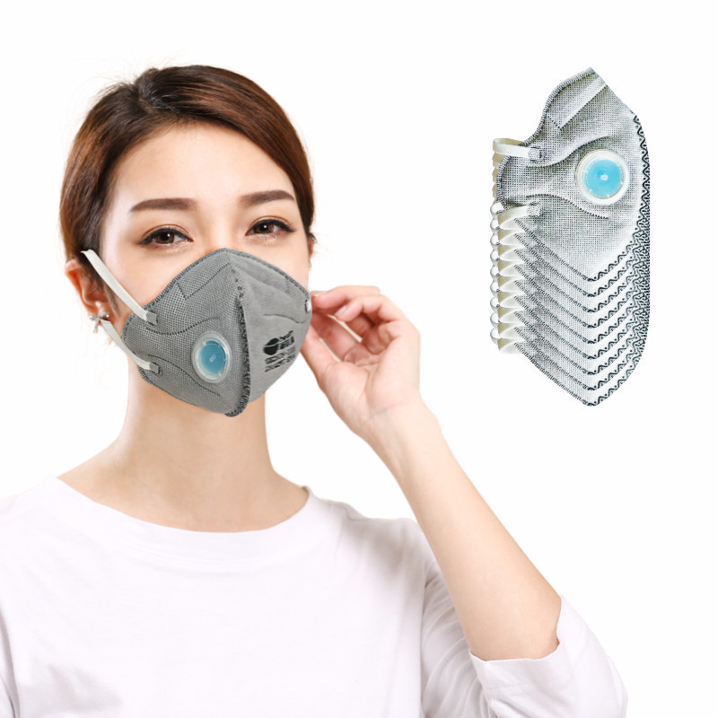 Disposable Activated Carbon Gauze Mask Customizable KN95 Anti-Car Exhaust Face Mask Civilian Daily Life Face Mask Wholesale