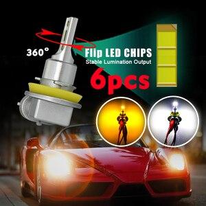 Image 5 - Cnsunnylight h11 9005/hb3 9006/hb4 conduziu a luz de nevoeiro do carro lâmpada do farol 2400lm 6000k branco 1900k amarelo h9 h8 h16 frente do automóvel