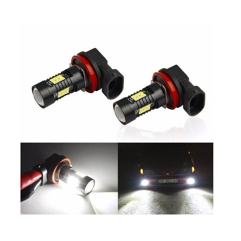 Image 2 - 2PCS LED Car Bulbs H8 H11 9005 9006 21 SMD 3030 Super Bright Auto Led Bulb Lamp 6000K Fog Light Cars Driving Lamp DRL-in Car Fog Lamp from Automobiles & Motorcycles