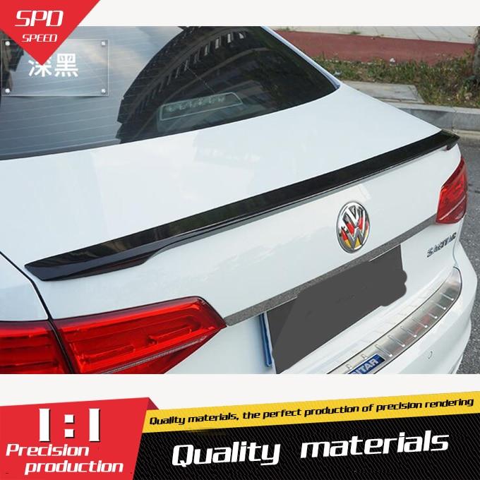 For VW Jetta Spoiler High Quality ABS Material Car Rear Wing Primer Color Rear Spoiler For Volkswagen Jetta Spoiler 2015-2017(China)