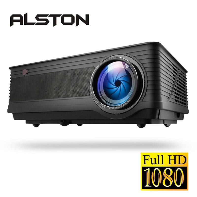 ALSTON M5 M5W Full HD 1080P проектор 4K 6500 люмен кинопроектор проектор Android WiFi Bluetooth hdmi VGA AV USB с подарком