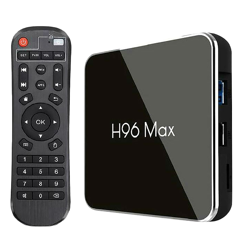 For 8.1 Tv Box H96 Max X2 Amlogic S905X2 Smart 4K Media Player 2.4G&5G Wifi Pk X96Max H96Max Set Top Box Youtube(Us Plug)4G64G