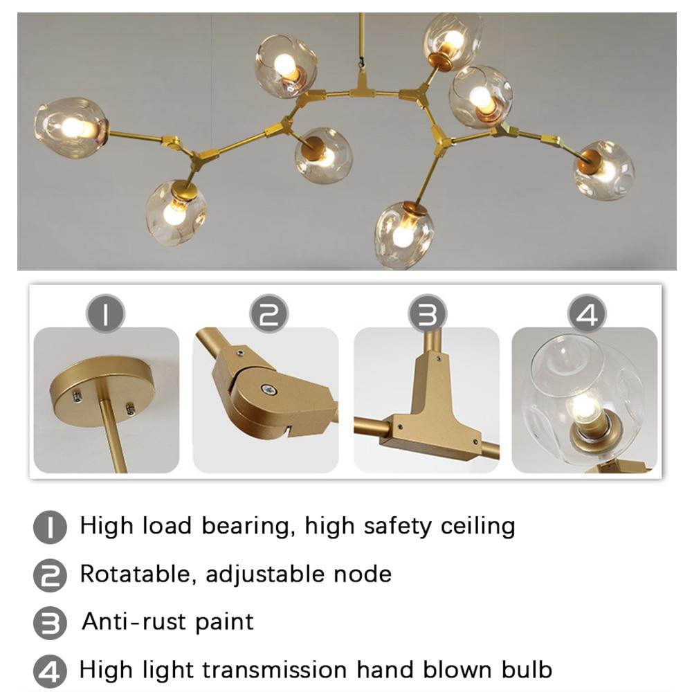 cheapest Post Modern Irregular LED Chandelier Light Aluminum Acrylic Ceiling Hanging Lamp Dining Room Pendant Restaurant Suspension Light