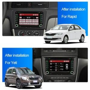 "Image 4 - Lecteur multimédia Radio DVD de voiture Junsun 2 din 7 ""pour VW/Skoda/Octavia/Fabia/Rapid/Yeti/Seat/Leon GPS Navigation audio stéréo de voiture"