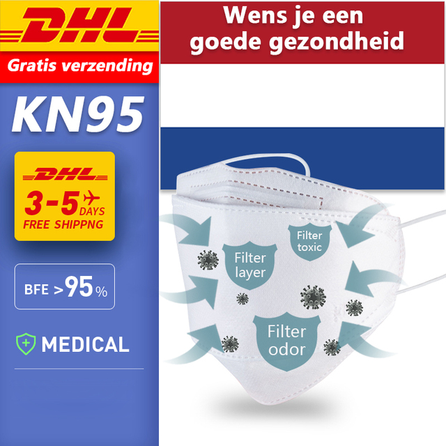 DHL N95 Disposable mondkapjes virus ffp3 mondkapjes mask Filter ffp2 mondkap Anti Pollution Gasket Anti Anti Flu Antiviral masks
