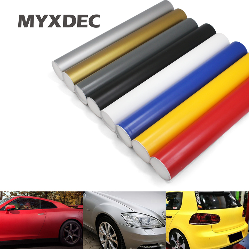 30CM Car Styling Matt Vinyl Film Sticker Foil Bubble Free Car Wrapping Motorcycle Automobiles Car Accessories Stickers Decals