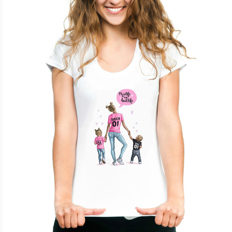 Mother's Love Female T-shirt Super Mama Summer 2019 Funny T Shirt Women Tshirt Plus Size Fashion Clothes Harajuku White T-shirts