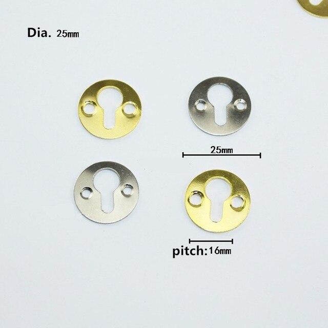 Crochets ronds suspendus au détail 1 pièce | Pour tableau, peinture à lhuile, cadre de miroir, crochets avec vis, couleur Bronze or argent, 25mm