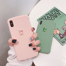 VZD Plain Cute 3D Cartoon dragon Phone Case For iphoneXS Max XR XS soft TPU for iphone 6 6s 7 8 plus  silicone case Gift