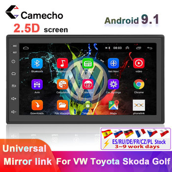 Camecho 2 Din Car Radio GPS Android Car Multimedia Player Bluetooth 7 Autoradio 2 din For Volkswagen Nissan Kia Polo Car Stereo image