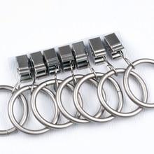 7 Uds anillos de cortina de Hardware Universal para ducha, accesorios de baño, decoración del hogar, Clips colgantes de hierro Vintage de 3cm de diámetro