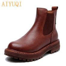 Aiyuqi/женские ботинки «Челси»; Новинка весны 2020 года; Женские