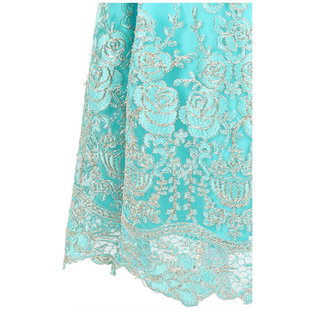 Thiên Thần-thời trang Áo Thêu Dạ Hội Dây, Hở Lưng, Cơ Thể con Tiệc Cưới Đầm Xanh Da Trời 432