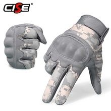 Acu camuflagem tela de toque da motocicleta junta dura luvas dedo cheio moto motociclista motocross equitação engrenagem protetora