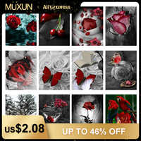 5D Diamond Painting Full Square Flower Diamond Embroidery Sale Roses Diamond Mosaic Picture Of Rhinestone Home Decor Gift H882