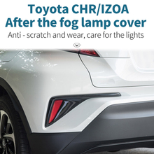 After the fog lamp cover Fog decorative frame  Rear Tail light Lamp Shade Frame For Toyota CRH/IZOA 2018