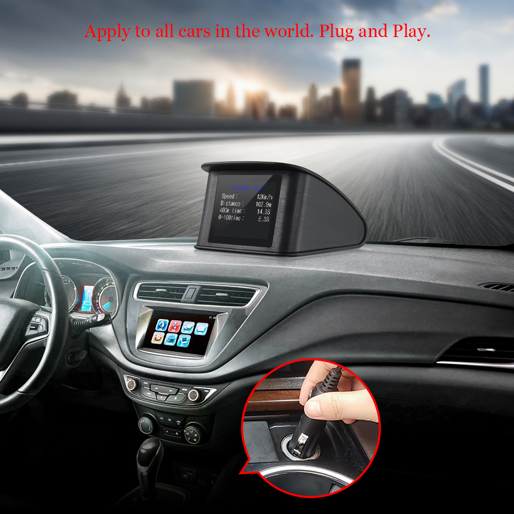Image 3 - OBDHUD T600GPS OBD Computer Car Speed Projector Digital Speedometer Display Fuel Consumption Temperature Gauge Diagnostic Tool-in Head-up Display from Automobiles & Motorcycles
