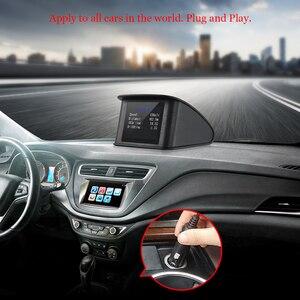 Image 5 - T600 GPS OBD2 Car Head Up Display Computer Digital Speedometer Speed Display Fuel Consumption Temperature Gauge Diagnostic Tool