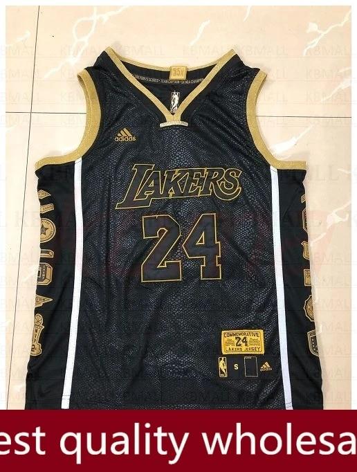 NBA jersey Los Angeles Lakers Kobe Bryant #24 Black Mamba 24 Collection basketball Jersey l