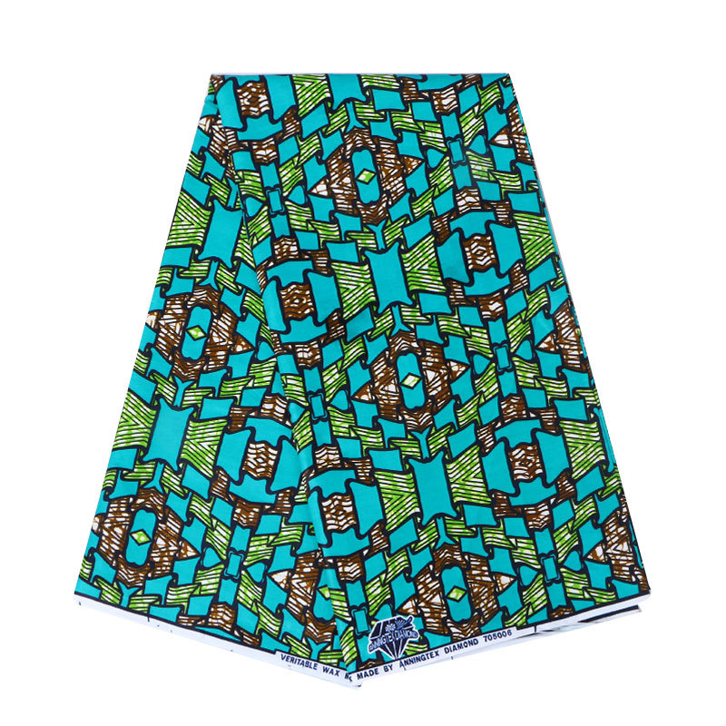 2019 Newest Fashion African 100% Cotton Print Green Fabric Veritable Ankara Real Dutch Wax