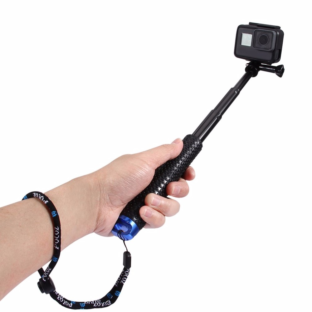 PULUZ Camera Selfie Stick With Strap Action Accessories For GoPro HERO5 Session/ 5/ 4 4/ 3+/ 3/ 2/ 1