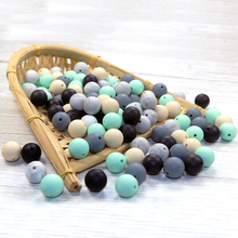 Joepada 100Pcs/lots 9/12/15mm Silicone Beads BPA Free Making Baby Teething Necklace Toy Silcone Teether